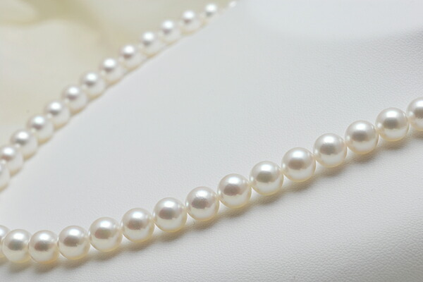 【真珠の本場 伊勢志摩よりお届け】7.5〜8.0mm あこや本真珠ネックレス