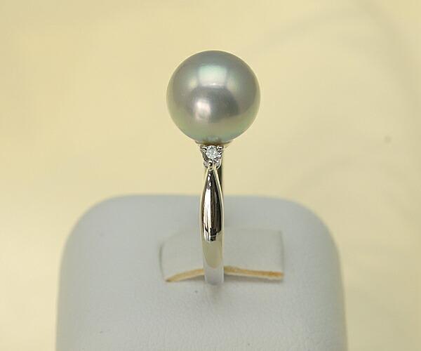 【真珠の本場 伊勢志摩よりお届け】9.6mm大粒あこや本真珠プラチナリング【n0121】