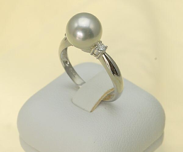 【真珠の本場 伊勢志摩よりお届け】8.7mmあこや本真珠プラチナリング【n0123】