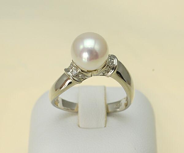 【真珠の本場 伊勢志摩よりお届け】8.6mmあこや本真珠プラチナリング