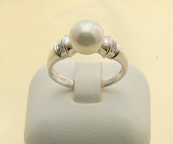 【真珠の本場 伊勢志摩よりお届け】8.3mmあこや本真珠プラチナリング【n0573】