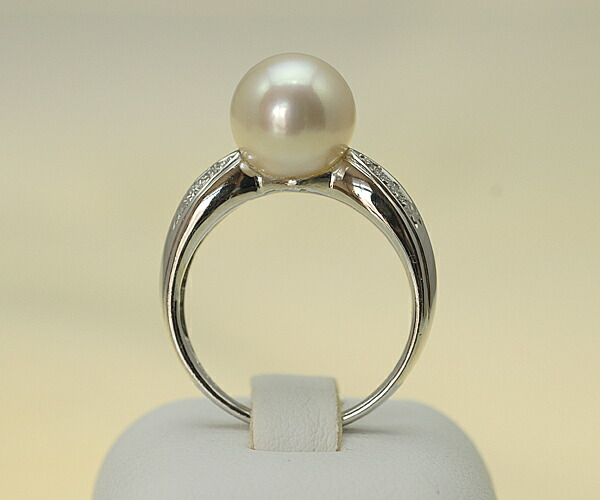 【真珠の本場 伊勢志摩よりお届け】9.3mm大粒あこや本真珠リング【n0574】