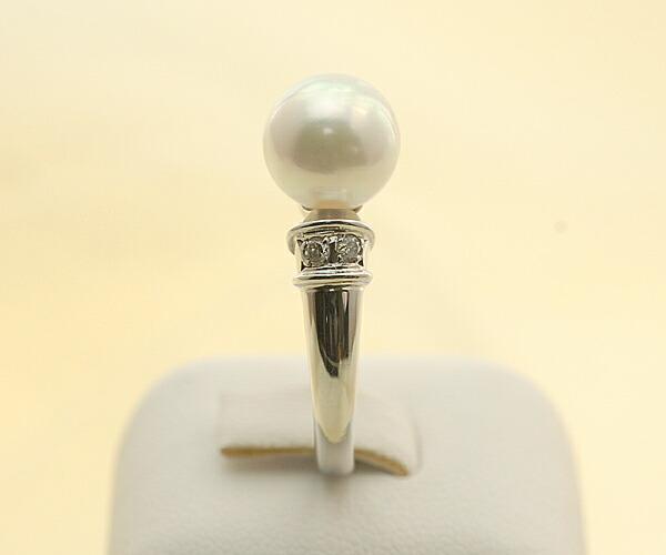 【真珠の本場 伊勢志摩よりお届け】8.0mmあこや本真珠リング【n0641】