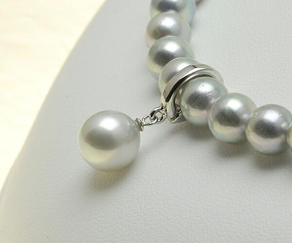 ほんのり淡いシルバーグレー♪9.0mmあこや本真珠クリッカー【n0739】