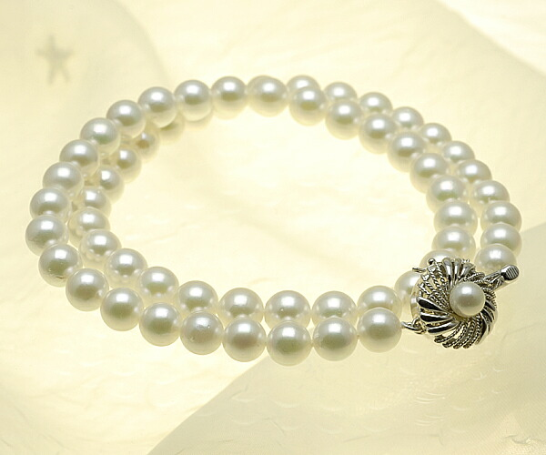 【真珠の本場 伊勢志摩よりお届け】7.0〜7.5mm あこや本真珠ネックレス【n0977】