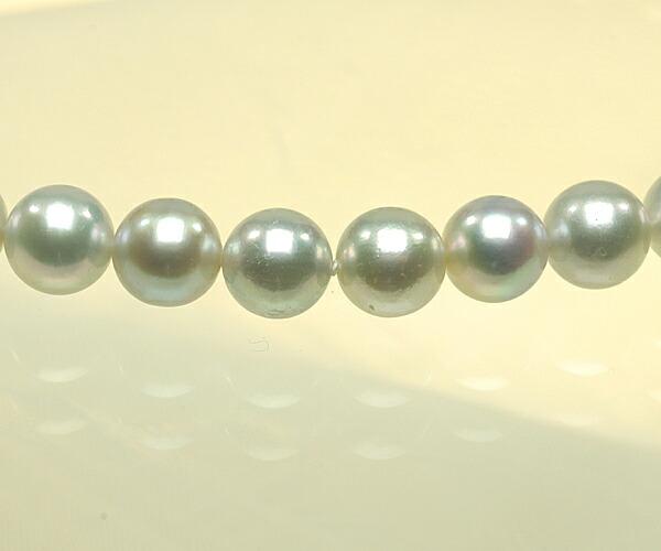 【真珠の本場 伊勢志摩よりお届け】淡いグレーの輝き♪6.5〜7.0mm あこや本真珠念珠【n0176】