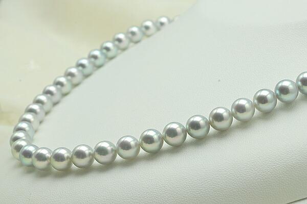 【真珠の本場 伊勢志摩よりお届け】7.5〜8.0mm あこや本真珠ネックレスセット【n0777】