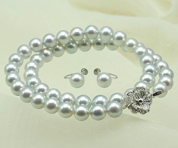 【真珠の本場 伊勢志摩よりお届け】8.0〜8.5mm あこや本真珠ネックレスセット【n0779】
