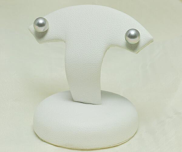 【真珠の本場 伊勢志摩よりお届け】落ち着きのあるシルバーグレー♪6.0mmあこや本真珠ピアス【n1059】