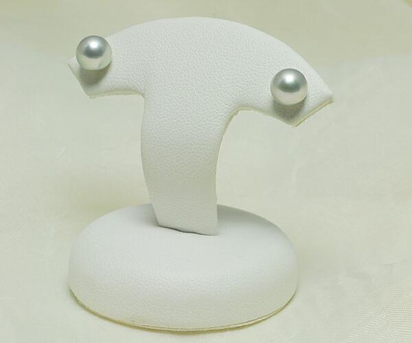 【真珠の本場 伊勢志摩よりお届け】淡いシルバーグレーの輝き♪6.5mmあこや本真珠ピアス【n1063】