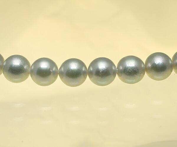 【真珠の本場 伊勢志摩よりお届け】シルバーグレーにほんのりピンク♪6.5〜7.0mm あこや本真珠念珠【n0945】