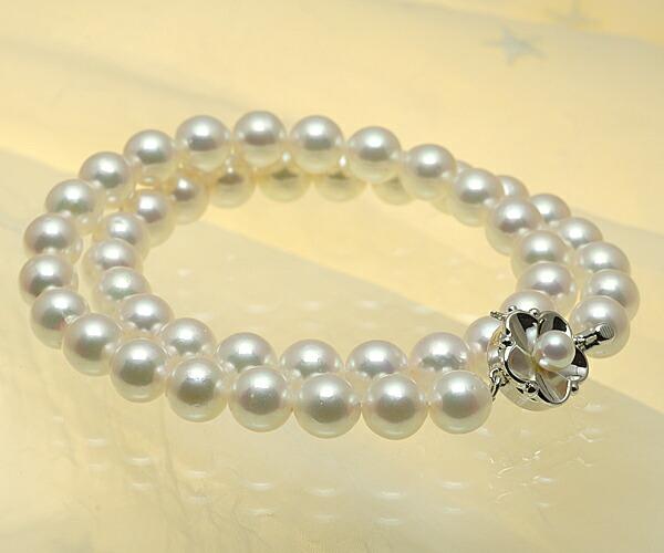 【真珠の本場 伊勢志摩よりお届け】8.5〜9.0mmあこや本真珠ネックレス