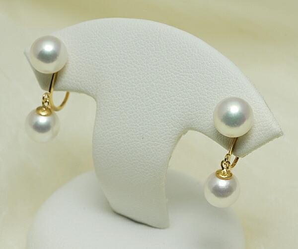 【真珠の本場 伊勢志摩よりお届け】ピンクの真珠が揺れる♪7.0mmあこや本真珠ブライヤリング(ネジ式)【n1100】