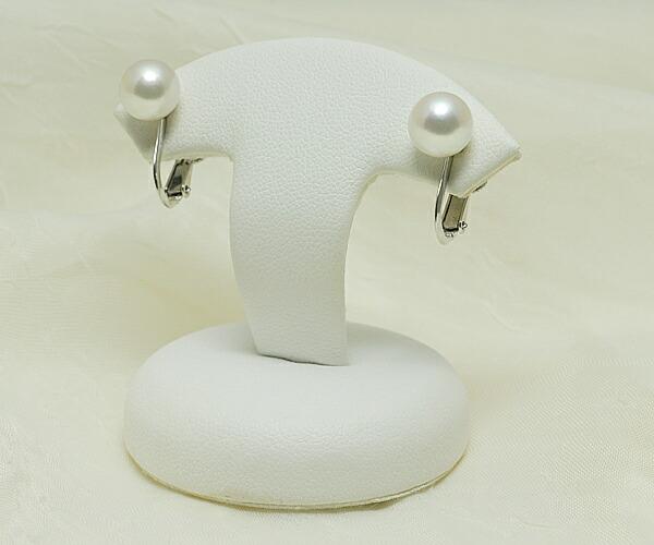 【真珠の本場 伊勢志摩よりお届け】ほんのり優しい淡いピンク♪7.5mmあこや本真珠イヤリング(ネジバネ式)【n1144】