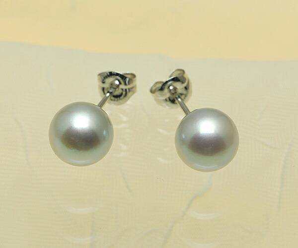 【真珠の本場 伊勢志摩よりお届け】ほんおのり優しいピンクが差し込む♪7.5mmあこや本真珠ピアス【n1234】