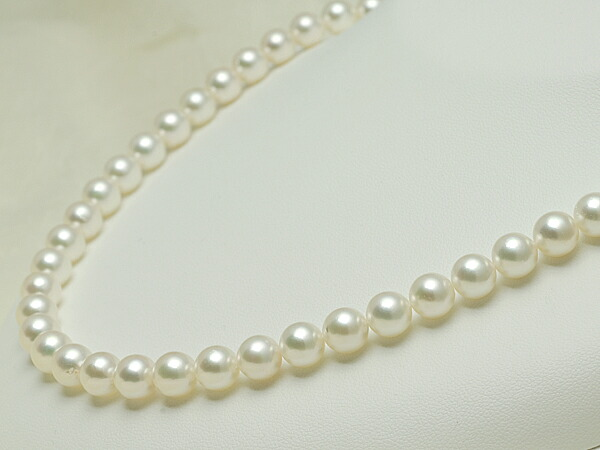 【真珠の本場 伊勢志摩よりお届け】7.5〜8.0mmほんのり淡い優しい色目♪あこや本真珠ネックレス【n0300】
