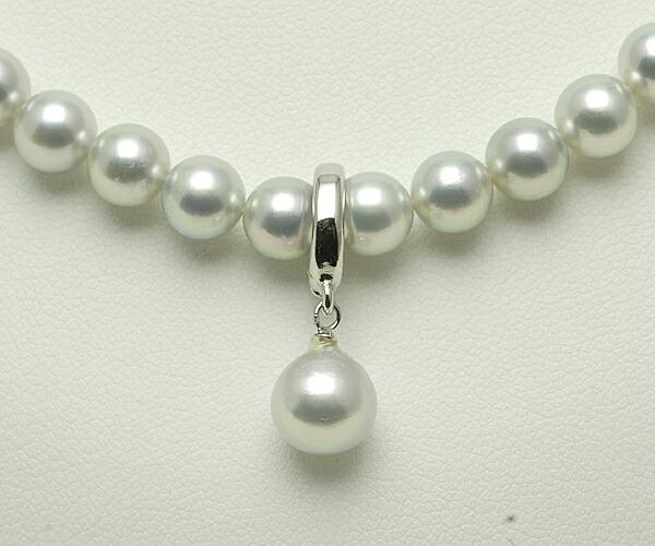 【真珠の本場 伊勢志摩よりお届け】落ち着いた上品グレーが魅力♪6.0〜6.5mmmm あこや本真珠シルバーグレーネックレス【n0596】