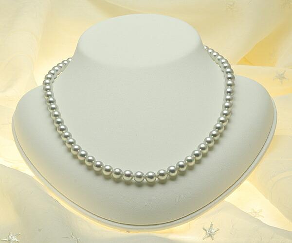 【真珠の本場 伊勢志摩よりお届け】上品グレーとピンクが綺麗♪6.5〜7.0mmmm あこや本真珠シルバーグレーネックレス【n0829】