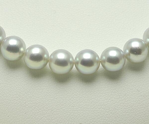 【真珠の本場 伊勢志摩よりお届け】7.0〜7.5mm あこや本真珠シルバーグレーネックレス【n0870】