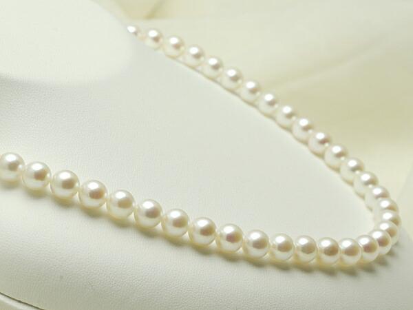 【真珠の本場 伊勢志摩よりお届け】7.5〜8.0mm淡いピンクが広がる♪あこや本真珠ネックレス【n0996】