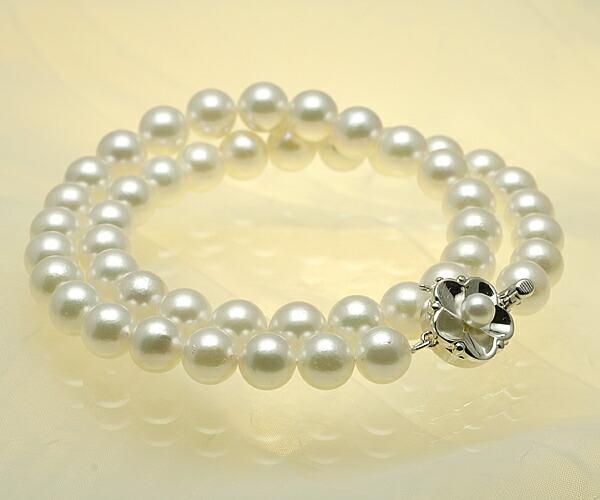 【真珠の本場 伊勢志摩よりお届け】ほんのり淡い色目が魅力♪8.5〜9.0mmあこや本真珠ネックレス