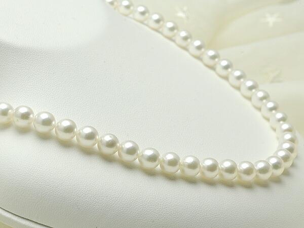 【真珠の本場 伊勢志摩よりお届け】7.5〜8.0mm淡いお色の上品カラー♪あこや本真珠ネックレス【n0295】