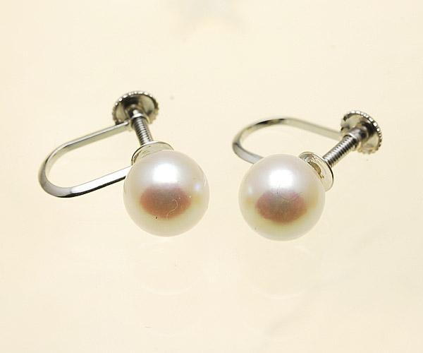 【真珠の本場 伊勢志摩よりお届け】優しいピンクが美しい♪6.5mmあこや本真珠イヤリング(ネジ式)