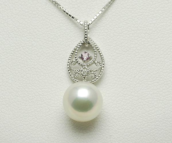 【真珠の本場 伊勢志摩よりお届け】可愛いト音記号に真珠が揺れる♪あこや本真珠ペンダントトップ【n1372】
