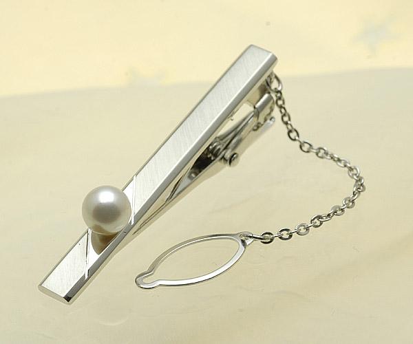 【真珠の本場 伊勢志摩よりお届け】ほのかに淡いピンク♪7.0mm あこや本真珠 ネクタイピン【n1423】