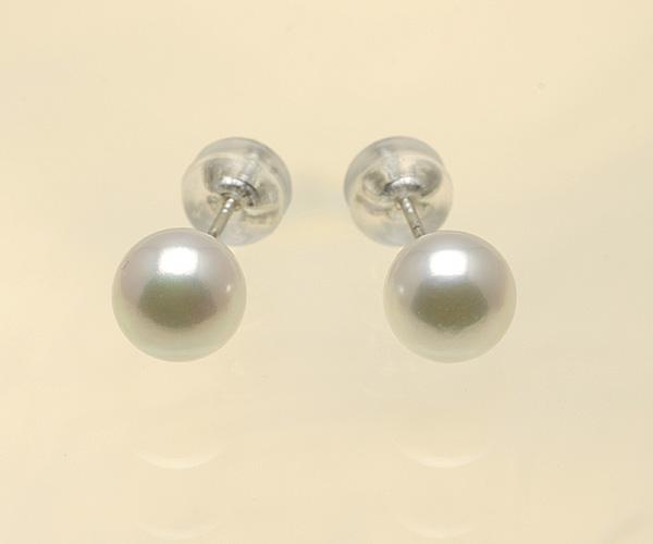 【真珠の本場 伊勢志摩よりお届け】淡い華やかピンク♪6.5mmあこや本真珠ピアス【n1474】