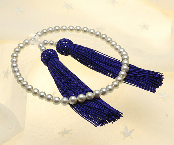 【真珠の本場 伊勢志摩よりお届け】シャンパンゴールドの輝き♪6.0〜6.5mm あこや本真珠念珠【n0370】