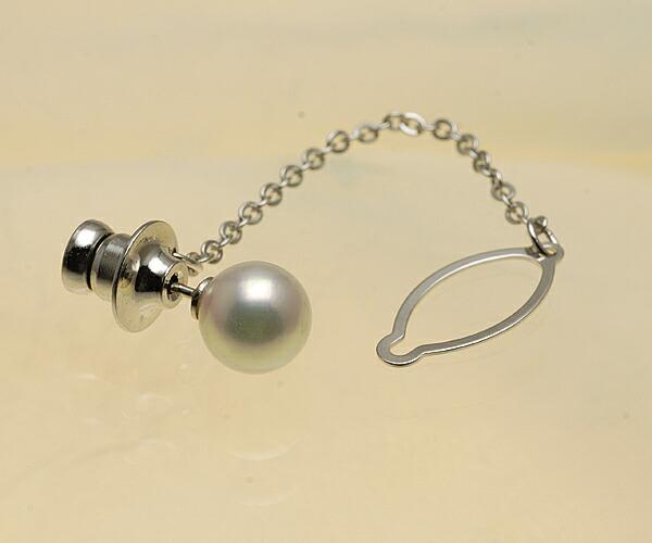 【真珠の本場 伊勢志摩よりお届け】花珠クラスの色目♪8.5mm あこや本真珠 ネクタイピン【n1192】
