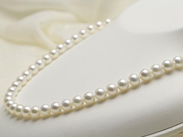 【真珠の本場 伊勢志摩よりお届け】7.0〜7.5mmあこや本真珠花珠ネックレス(鑑別書付)【MM000486697】