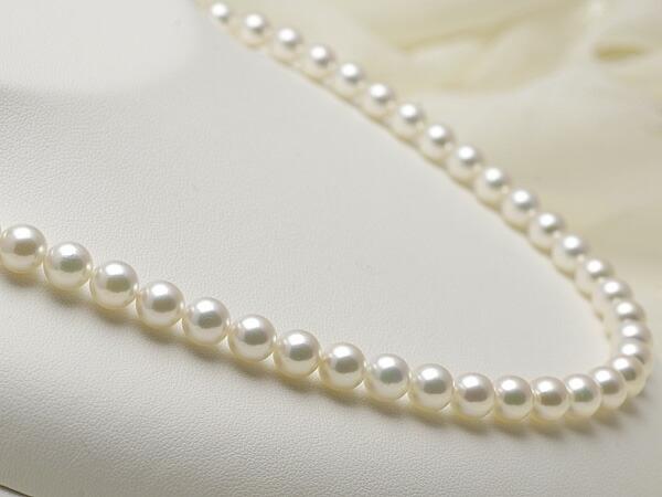 【真珠の本場 伊勢志摩よりお届け】7.0〜7.5mmあこや本真珠花珠ネックレス(鑑別書付)【MM00048669】