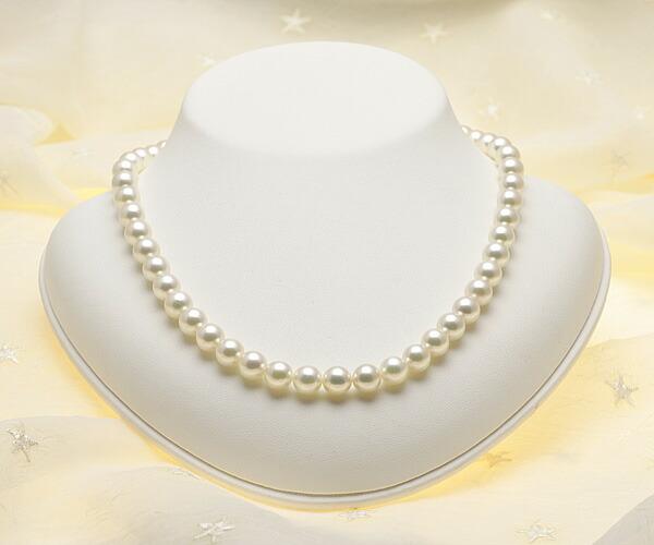 【真珠の本場 伊勢志摩よりお届け】8.0〜8.5mmあこや本真珠花珠ネックレス(鑑別書付)【MM00048679】
