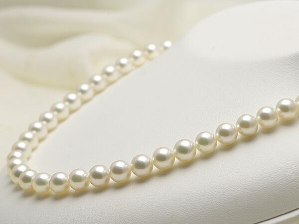 【真珠の本場 伊勢志摩よりお届け】8.0〜8.5mmあこや本真珠花珠ネックレス(鑑別書付)【MM000486797】