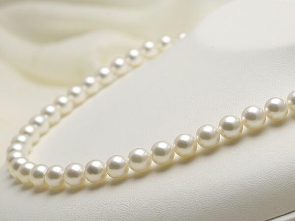 【真珠の本場 伊勢志摩よりお届け】8.0〜8.5mmあこや本真珠花珠ネックレス(鑑別書付)【MM000486817】