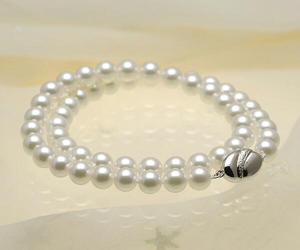 【真珠の本場 伊勢志摩よりお届け】7.5〜8.0mmあこや本真珠花珠ネックレス(鑑別書付)【kk00085131】