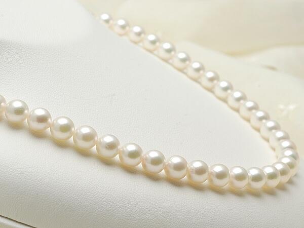 【真珠の本場 伊勢志摩よりお届け】7.5〜8.0mm淡いグリーンにほんのりピンク♪あこや本真珠ネックレス【n0011】