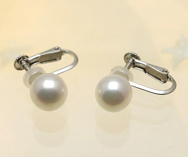 【真珠の本場 伊勢志摩よりお届け】深みのあるピンクが魅力♪8.0mmあこや本真珠イヤリング(ネジバネ式)【n1207】