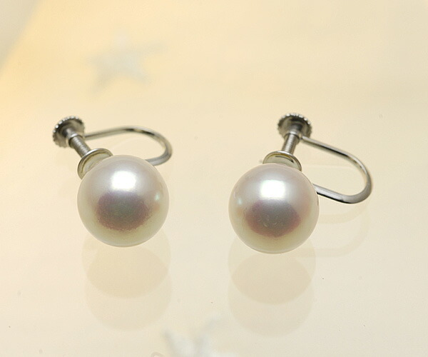 【真珠の本場 伊勢志摩よりお届け】華やかピンクが美しい♪8.5mmあこや本真珠イヤリング(ネジ式)【n1544】