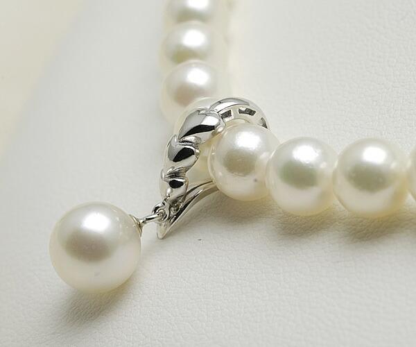 【真珠の本場 伊勢志摩よりお届け】グリーンピンクの上品カラー♪8.0mmあこや本真珠クリッカー【n1567】