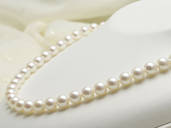 【真珠の本場 伊勢志摩よりお届け】ほんのり優しいピンク♪8.0〜8.5mmあこや本真珠ネックレス【n1691】