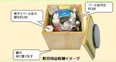 防災用品収納イメージ