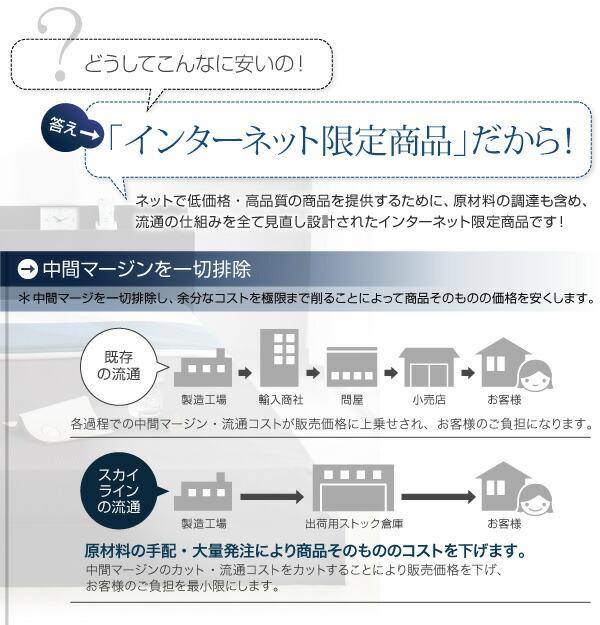 棚・コンセント付きフロアベッド【Skyline】スカイライン10