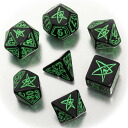 Cthulhu dice six-sided dice black green-