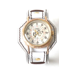 【達磨】白虎 ハンドメイドアンティーク腕時計