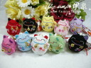Plush strap ◆ beckoning ◆ Japanese crepe, 10 Kala, talisman, charm, happiness, luck, health luck UP....