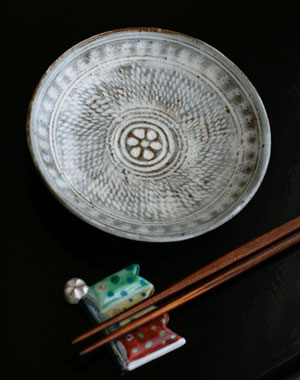 三島4.8寸皿・吉井史郎