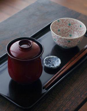 黒・潤1尺×5寸雪才(デザート盆)